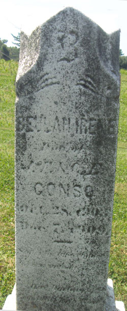 Headstone of Beulah Irene Gonso (1903-1909), Daughter of Former Rocky Springs Chapel Trustee, John F Gonso, Mount Olivet Cemetery