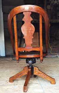 Teachers Chair back view-After Conservation