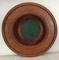Collection Plate With Green Interior Lining-Front View